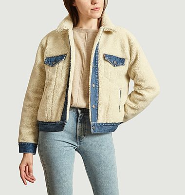 Veste ex-boyfriend pieced trucker polaire