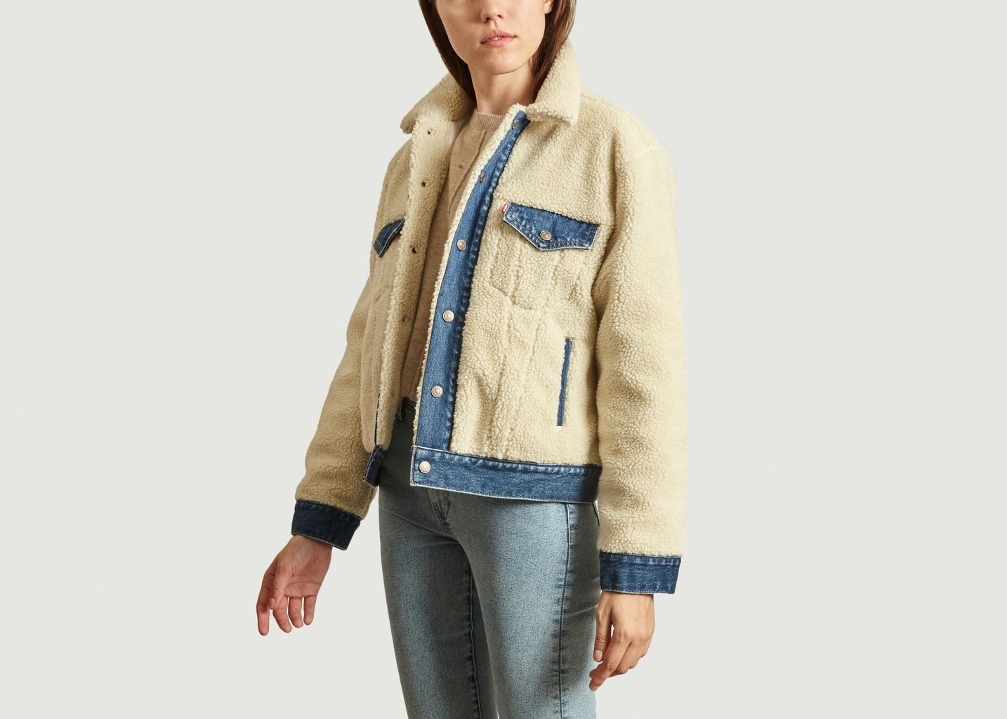 Veste ex-boyfriend pieced trucker polaire - Levi's Red Tab