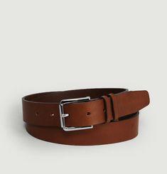 Tanned leather belt L'Exception Paris