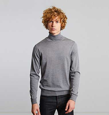 Merino wool turtleneck jumper