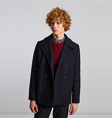 Made in France wool pea coat
