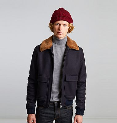 Virgin wool aviator jacket