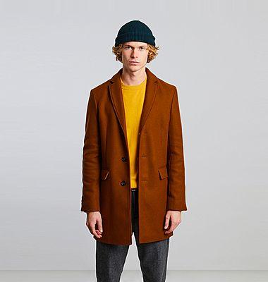 Made in France virgin wool overcoat