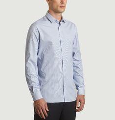 Chemise rayée à col classique