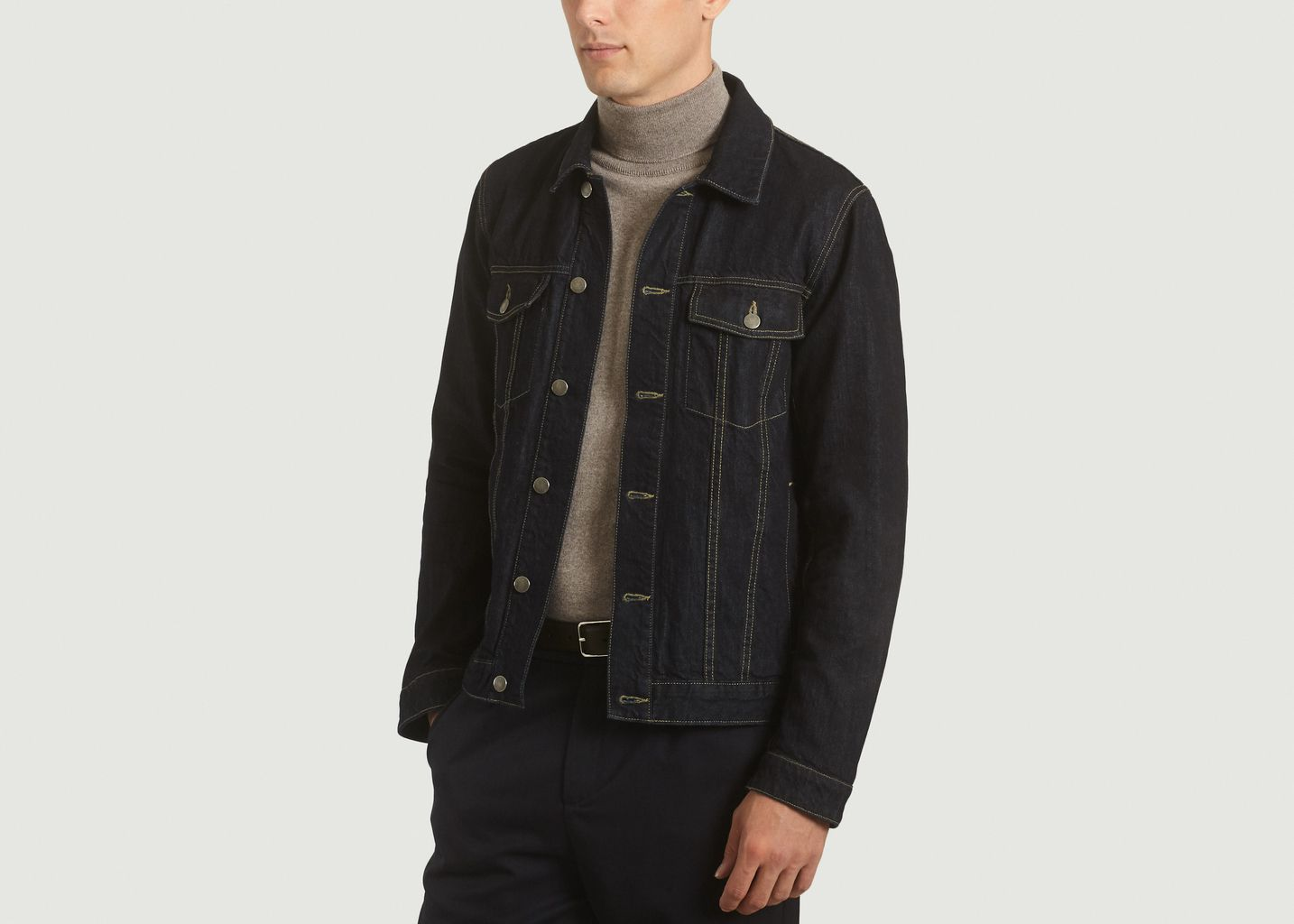 2f232f55259 Veste en Jean Selvedge Brut L Exception Paris