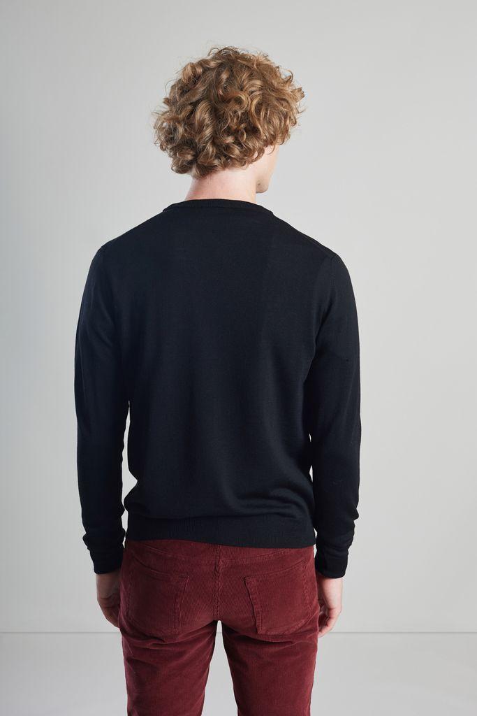 Pull col rond en laine mérinos - L'Exception Paris
