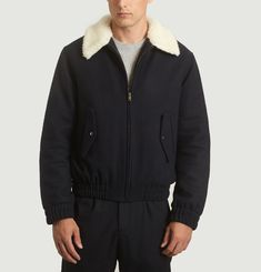Wool and Cashmere Aviator Jacket
