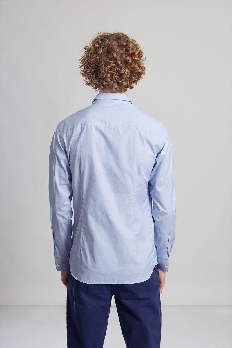 Chemise popeline à rayures bleu clair  - L'Exception Paris