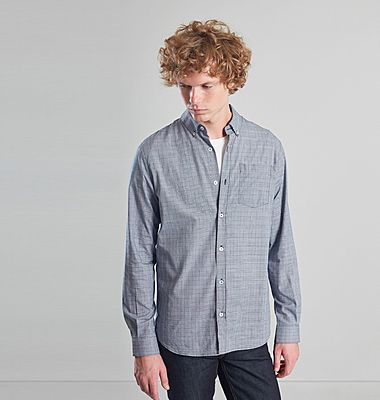 Prince of Wales Chequered Shirt in Japanese cotton