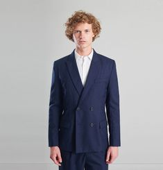 Double Breasted Suit Jacket Vitale Barberis