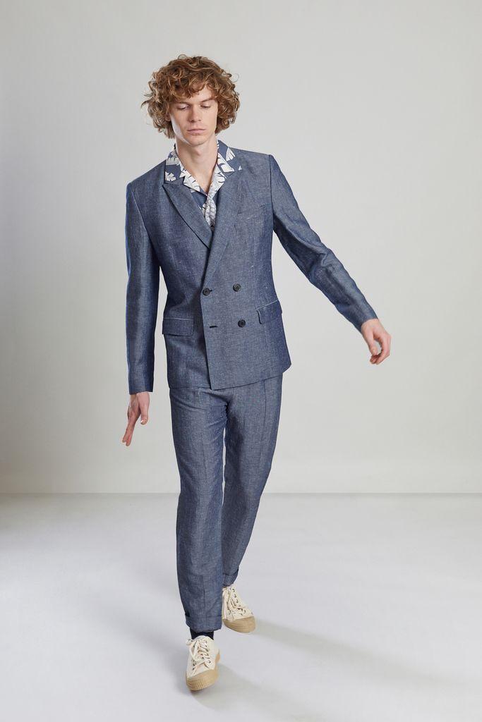 Veste de Costume Croisée en lin japonais - L'Exception Paris