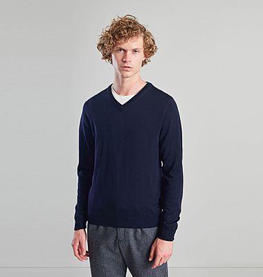Merino Wool V-Neck Jumper