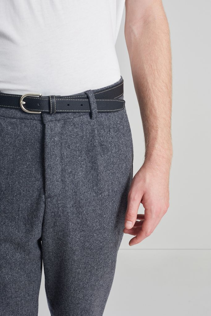 Pantalon à Plis en Laine Japonaise - L'Exception Paris