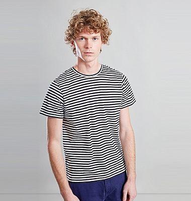T-shirt rayé en coton biologique japonais