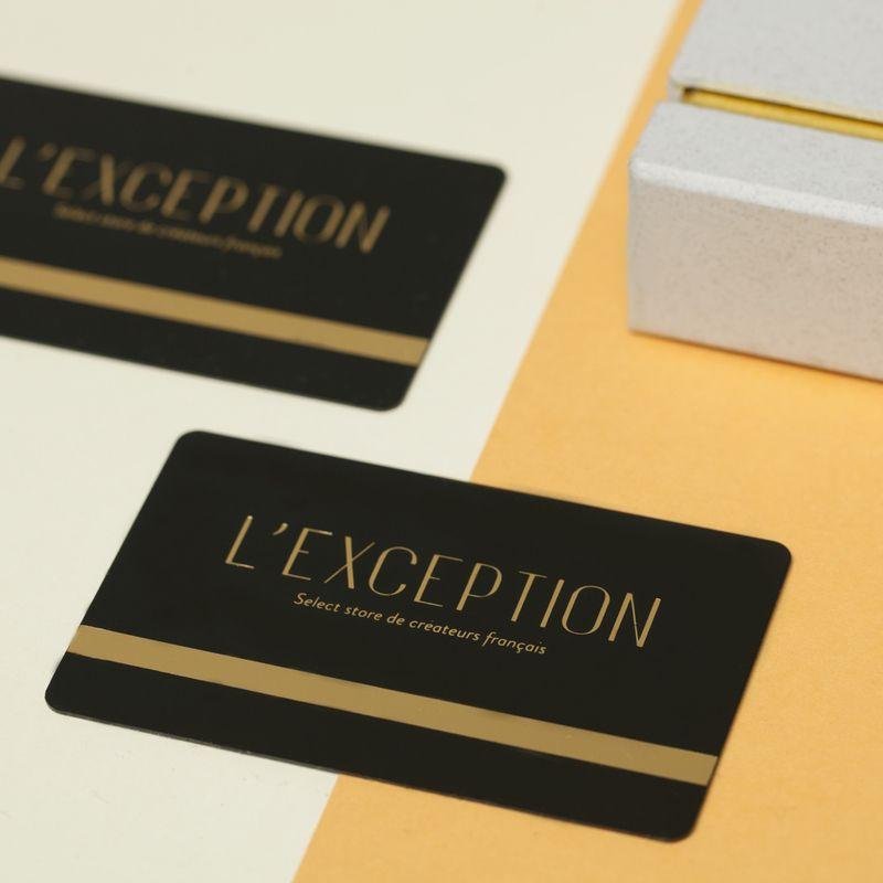 La carte cadeau - L'Exception
