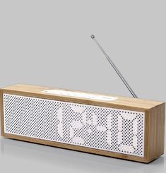 Radio Réveil Titanium Bamboo