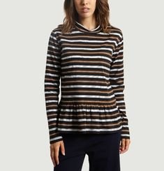 Wake Striped Blouse