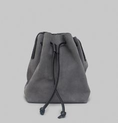 Suede Velours Shell Bag
