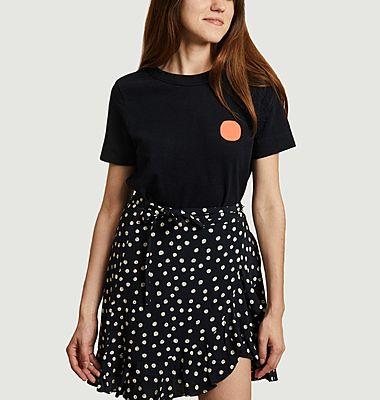 T-shirt à pois contrasté Fluor