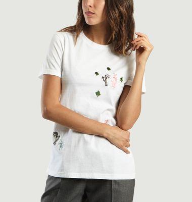 T shirt Forest Brodé