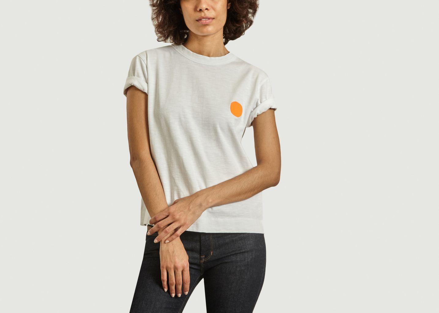 T-shirt à pois contrasté Fluor - Loreak Mendian