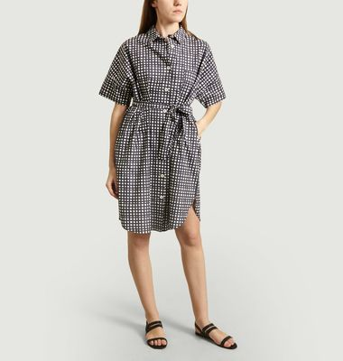 Robe-Chemise Manches Courtes A Carreaux Ni