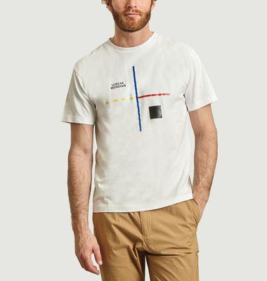 T-shirt Lau imprimé graphique