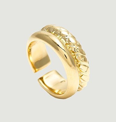 Charlotte ring 24 K fine gold