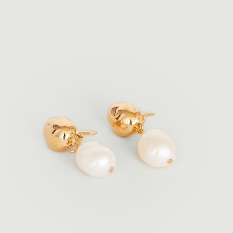 Boucles d'oreilles pendantes avec perles Lise - Louise Damas