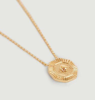 Collier médaille étincelante Shéhérazade