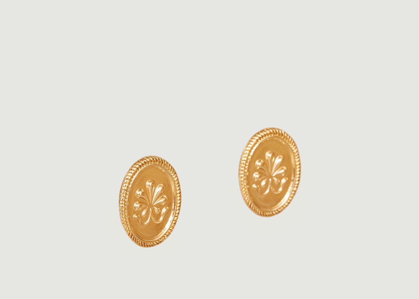 Boucles d'oreilles puces délicates Shéhérazade - Louise Damas