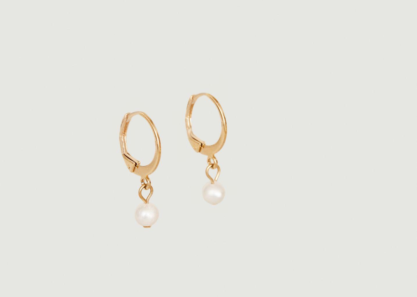 Boucles d'oreilles dormeuses perles Ondine - Louise Damas