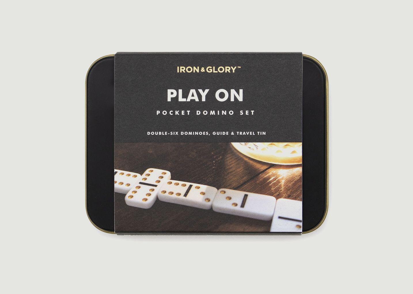Play on - Mini jeu de dominos pour les voyages  - Luckies