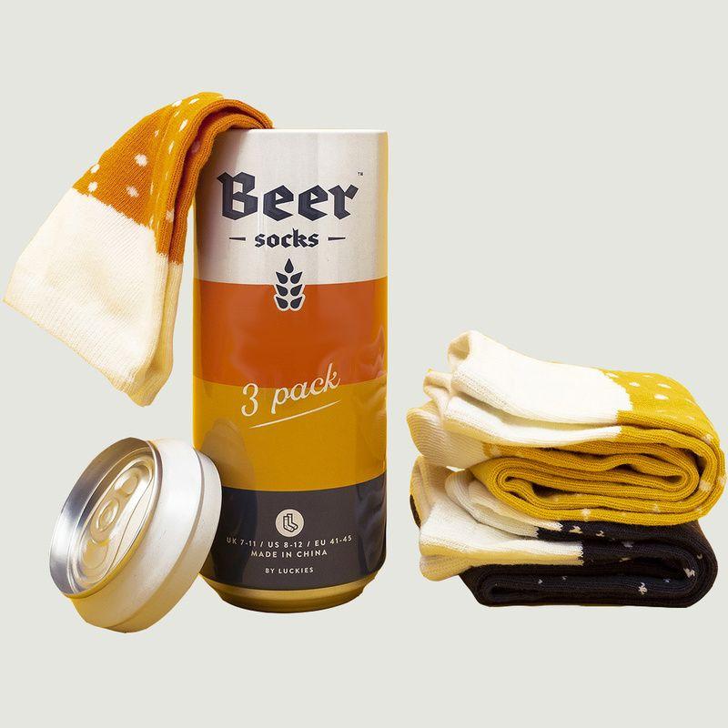 Lot De 3 Chaussettes Bières En Canette - Luckies