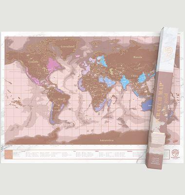Scratch Map in Rose Gold