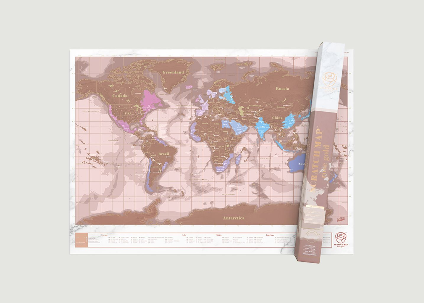 Scratch Map Rose Gold  - Luckies