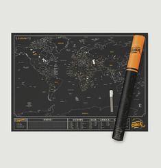 Scratch Off World Map Chalk Edition