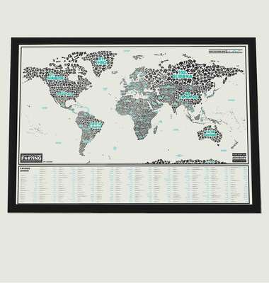 Scratch Map™ Of The F*#?ing World