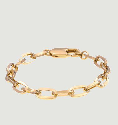 Bracelet gourmette laiton plaqué or Mina