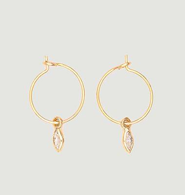 Boucles d'oreilles mini créoles laiton plaqué or Marquises