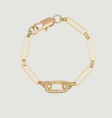 Bracelet laiton plaqué or maille trombone Fiona