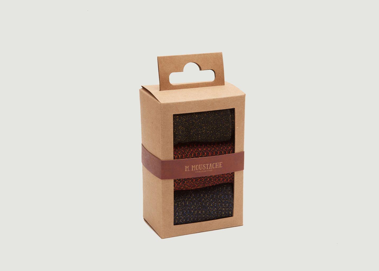 Pack 3 Chaussettes - M. Moustache