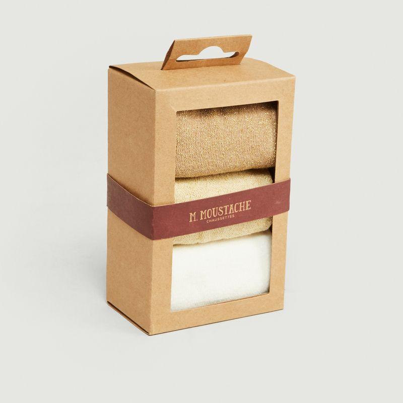 Pack de 3 Paires de Chaussettes - M. Moustache