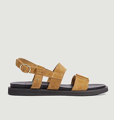 Charlotte suede sandals