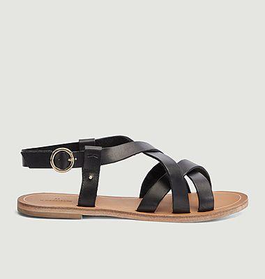 Sandales plates Lisa