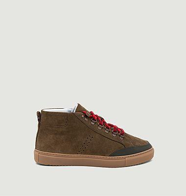 Sneakers mi-hautes en cuir suédé Christian