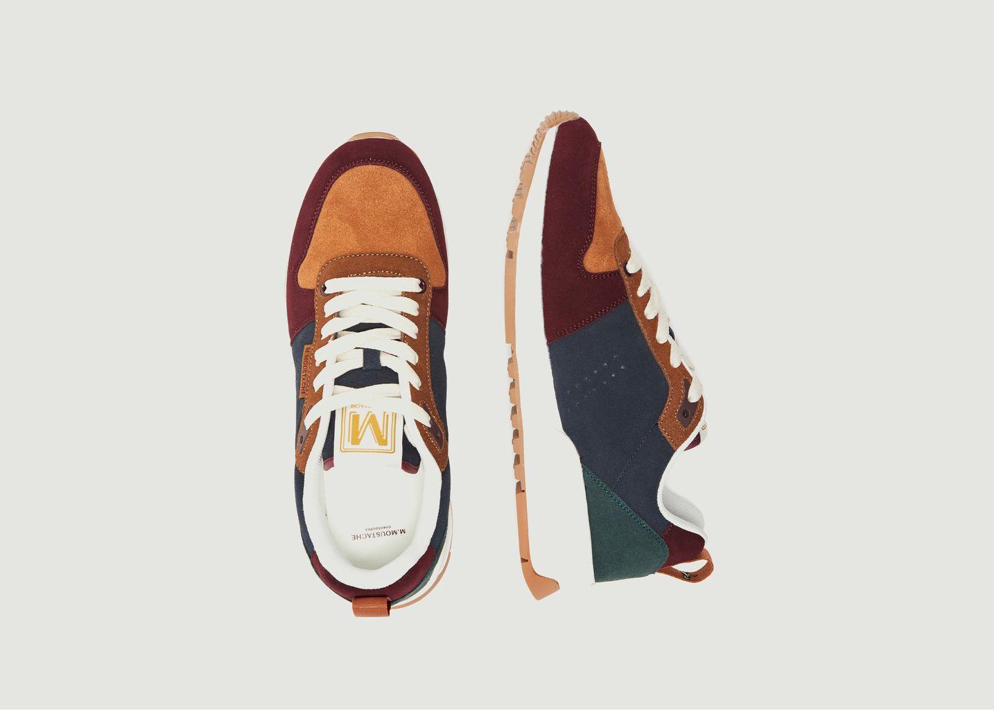 Sneakers basses de running en cuir suédé Daniel - M. Moustache