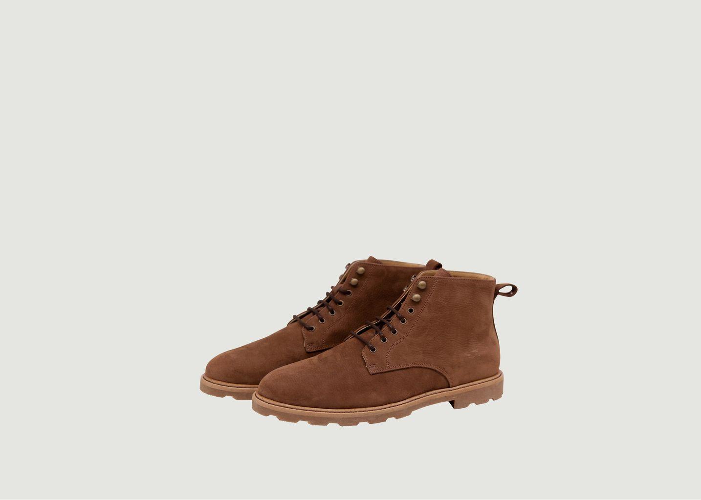 Desert boots en nubuck grainé Eugène - M. Moustache