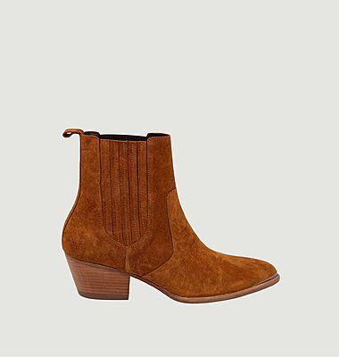 Boots en cuir suédé Marianne