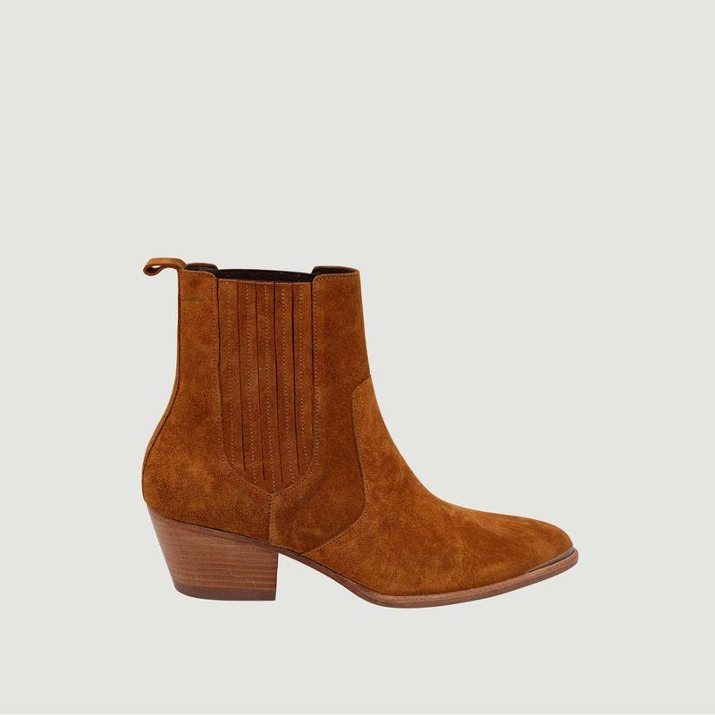Boots en cuir suédé Marianne - M. Moustache